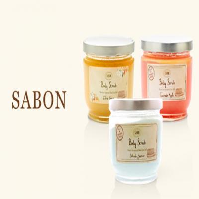 【選べる11種の香り】一度使えばそのすべすべ感に心奪われる《サボン ボディスクラブ 600g》ミネラル豊富な死海の塩を使用。自然の恵みがたっぷりと詰まったオイルの保湿効果で、シルクのようななめらかな肌に導く