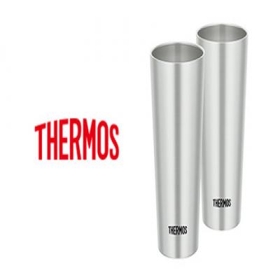 【温冷両用/2個セット】ステンレス魔法びん構造で飲み物のおいしい温度を長時間キープする《サーモス 真空断熱タンブラー2個セット JDI-400PS》