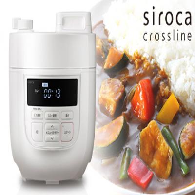 【67%OFF/2色展開】圧力調理・無水調理・蒸し調理・炊飯・温め直し・スロー調理(スロークッカー)に対応。材料を入れてボタンを押すだけの簡単操作で、本格的な味わい《siroca 電気圧力鍋 SP-D131》