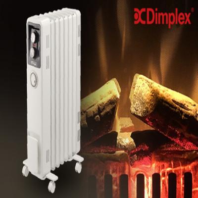 【メーカー3年保証】熱の対流で部屋を暖めるから、ホコリが舞わず空気を汚さない。オイル不使用で地球に優しく、軽量《Dimplex オイルフリーヒーター B02 ECR12Ti》