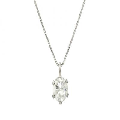 【71%OFF】Pt999 純プラチナ枠 天然ダイヤモンド 大粒 0.5ctアップ 6本爪 ネックレス