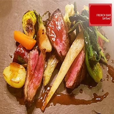 【50%OFF/ランチ・ディナー利用可/特典利用で飲み放題をお得に】フランスの地方料理をテーマに、厳選食材を使用した本格バル料理を堪能。魚と肉のWメインなど《ディナーコース》