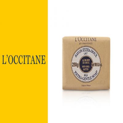 《ロクシタン シアソープ ミルク 250g》シアバター20%配合で保湿力抜群 リッチな泡で肌のうるおいを残しながらさっぱりと洗い上げます。優しい香りに包まれて心も体もリラックス