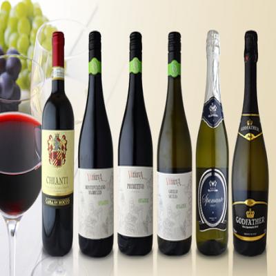 【送料込み】味わいの異なる赤・白・発泡と3種のワインを組み合わせ。食事や気分に合わせて飲み比べも楽しい、イタリア産ワインセット《イタリア産ワイン6本セット》