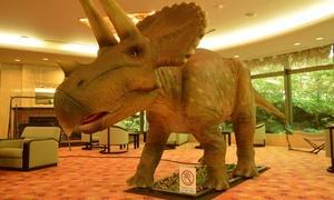 前回より値下げ。恐竜たちのお出迎えで楽しめるリゾートホテル≪しゃぶしゃぶ和食膳/和室/1泊2食付≫ @ホテルブランヴェール那須
