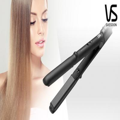 最高約200℃の高温プレートで、美しいヘアスタイルをしっかりとキープ。髪に熱をやさしく素早く伝え、サラ艶ストレートに《ヴィダルサスーン マイナスイオンストレートアイロン VSI-1019/KJ》