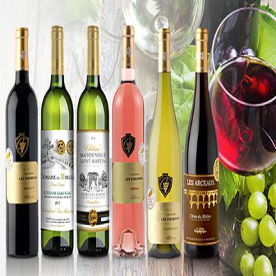 【送料込み/6本セット】すべて国際ワインコンクールで金賞を受賞。味に定評のある確かなワインをカジュアルに楽しめるセレクション《「普段飲み濃厚&軽快シリーズ」人気フランス産赤白ロゼ6本セット》