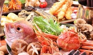いくら、ヘレ肉の天ぷらなど全11品+飲み放題最大180分 / 他1メニュー|各2・3・4名分から選べる|魚と野菜と天ぷらと酒場 リベリー|大阪市北区 東梅田駅