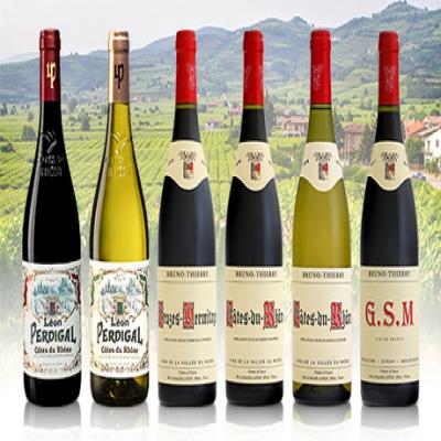 【送料込み】フランスのローヌ地方で造られた上質なワインを楽しめる。豊かに広がる果実味や心地よい余韻が続く贅沢なおいしさ《ローヌワイン6本セット》