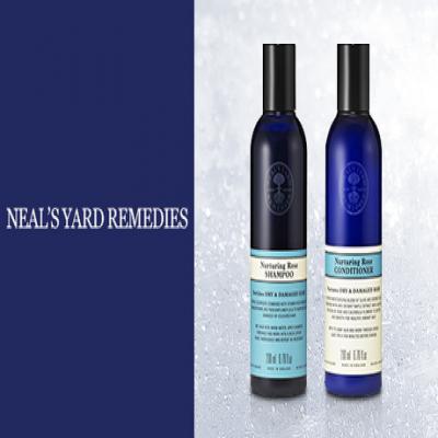 【選べる2種】《ニールズヤードレメディーズ ローズシャンプーorコンディショナー 200mL》紫外線による髪のダメージが気になる方に。ローズエキスを配合し、濃密なうるおいでしっとりと洗い上げる