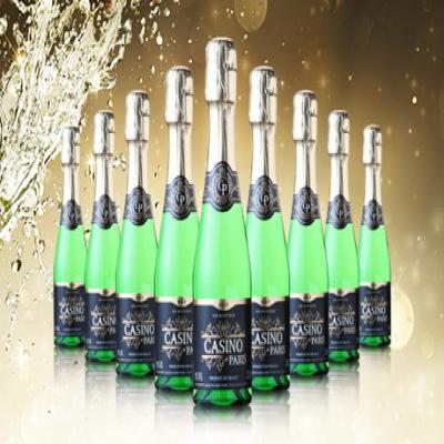 【送料込み】きめ細やかな輝きある淡いイエローが美しいスパークリングワイン。甘くないビターな後味が特徴《カジノ・ド・パリ ブリュット 200mL×24本》