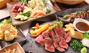 36%OFF 豚・鳥・牛を使った肉づくし全10品+飲み放題150分/2名分 or 3名分 or 4名分|30枚迄利用可|肉×九州料理 しょうちゃん|横浜市中区 関内駅