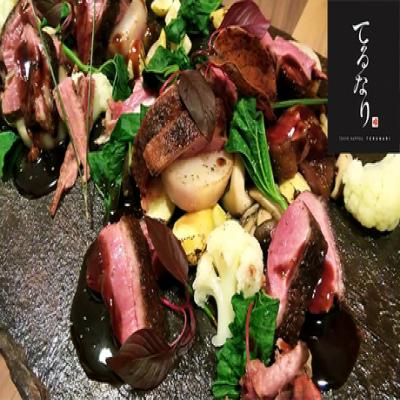 【東京割烹 てるなり】【「季旬 鈴なり」プロデュース】作家に特注した大皿でいただく和食×フレンチの肉料理など《ディナーコース》