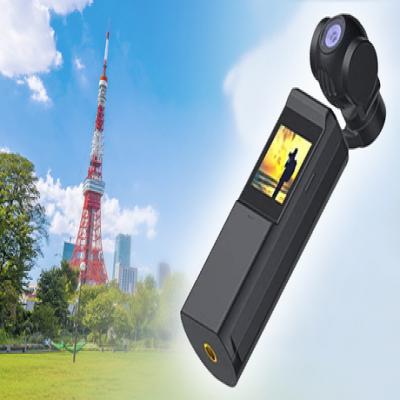 手ぶれを抑えて、なめらかでキレイな映像を記録。スマホと連動して、SNSシェアも可能《3軸メカニカルジンバルカメラPocket GIMBAL camera EC-PGC01-BK》
