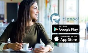 【980円】App storeの評価4.7|ネイティブと予約不要の即レス添削付きチャット英会話 ≪Eigooo(エイゴー)アプリ|入会日から「まるまる90日間」利用≫ @Eigooo ※クーポン購入後別途手続きが必要