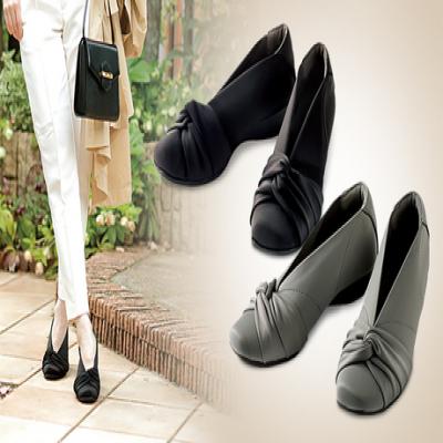 【2色・3サイズ展開】スポーツドクター・シューフィッターの共同開発。外反母趾や甲高の足にもやさしくフィット《美歩人エレガンスパンプス》肌あたりの良いソフトな履き心地が魅力の1足