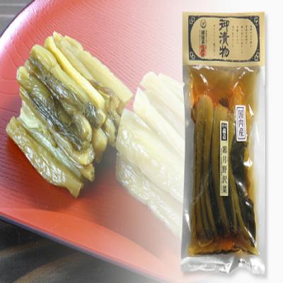 【送料込み】熟成された味わいに、ご飯がすすむ。信州の蔵元が丁寧に漬け込んだ、べっこう色の野沢菜醤油漬け《霜月野沢菜 200g×4袋》