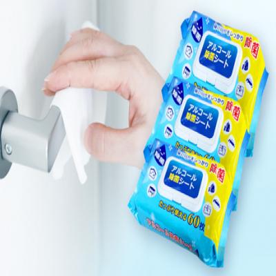 【73%OFF】汚れが気になる場所をさっとひと拭きして除菌。外出先に携帯しやすい、便利な使い捨てシートタイプ《アルコール除菌シート 60枚入り 3個セット》