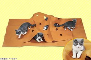 63%OFF【1,500円】≪☆送料無料☆折り畳んで収納もできて便利!楽しく遊べる「猫ちゃんのストレス解消折り畳めるトンネルマット」≫